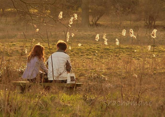 "Young love - Romantic childhood couple 5 x 7"" fine art photography print"