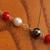 Tri-color Goddess bracelet maiden hematite, shell, pearl