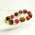 Rustic Red Coral and Wood Chunky Beaded Bracelet, Western Jewelry