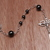 Groom's wedding rosary sterling silver and hematite