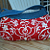 Handcrafted Denim and Florish Handbag Red / White