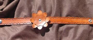 Leather flower Choker