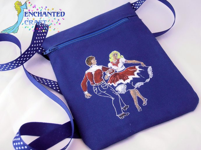 Square Dance bag get it in YOUR club colors- hand screened, painted, sewn