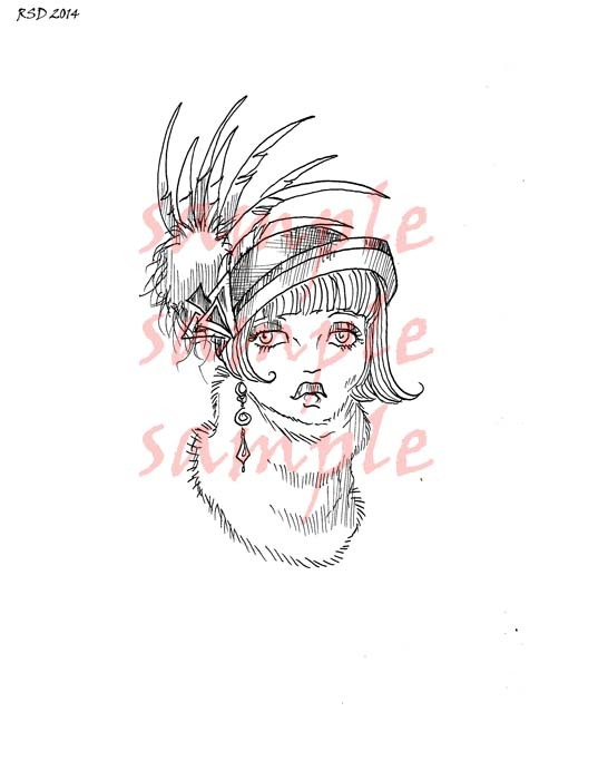 BILLIE Hat Lady digital stamp