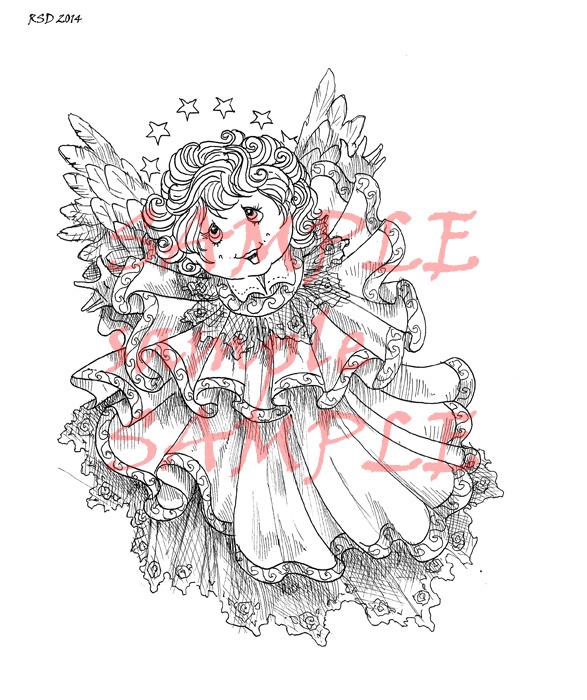 CHANTILLY angel digital stamp