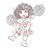 CODY pep sqaud girl digital stamp