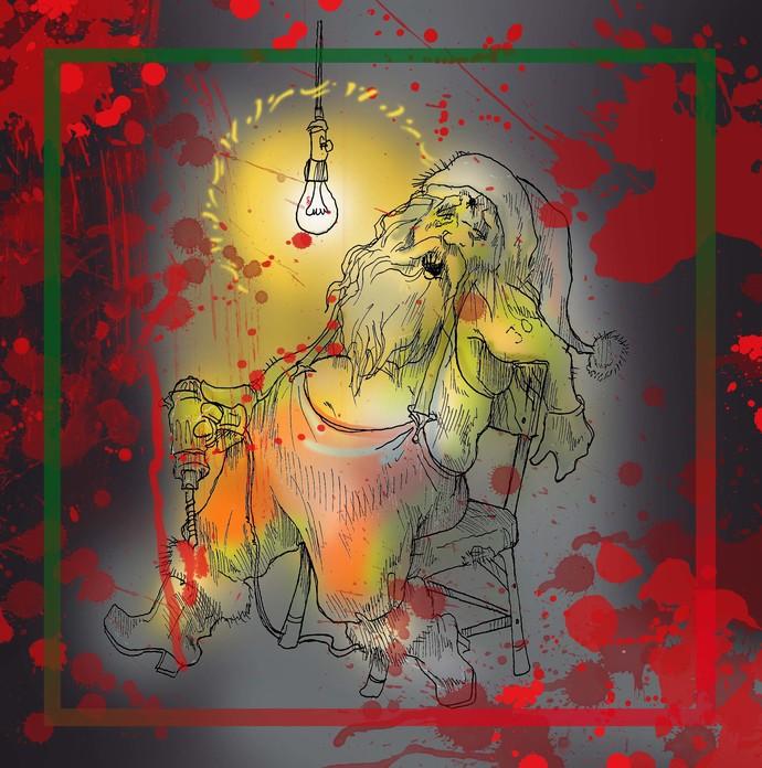 Dead Santa digital stamp