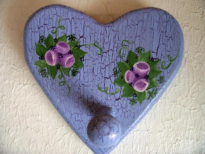 Lavender Heart Wall Decor with Peg