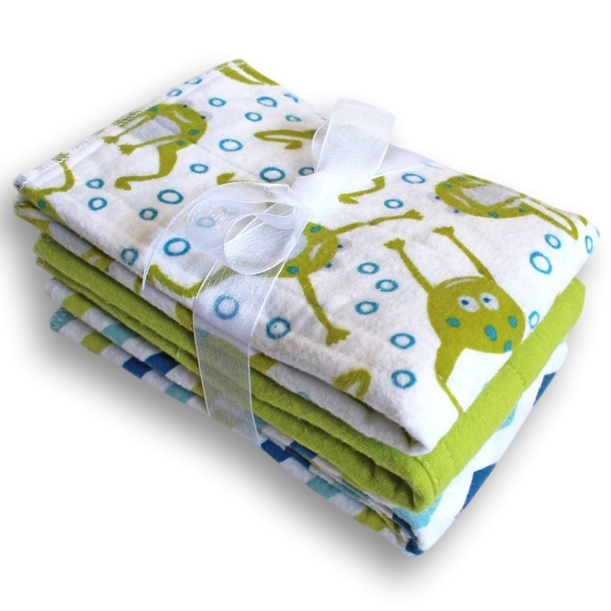 Cloth Baby Diapers, Frogs and Chevrons