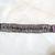 Dark Purple Wire Crochet Bracelet with Swarovski Crystals & Hand-painted Clasp