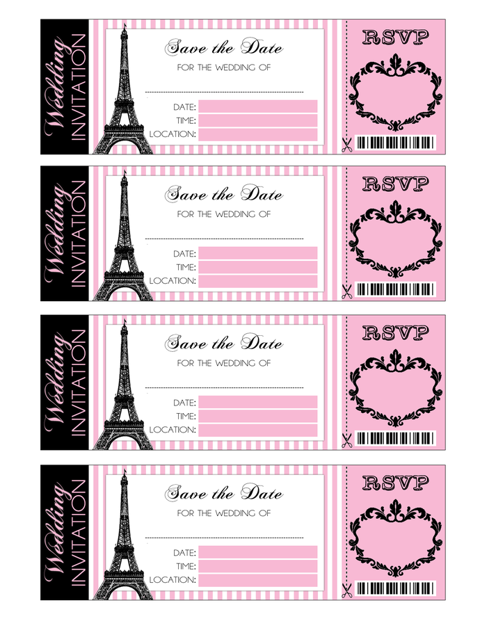 Printable Paris Inspired Save The Date By Ketrinadesign On