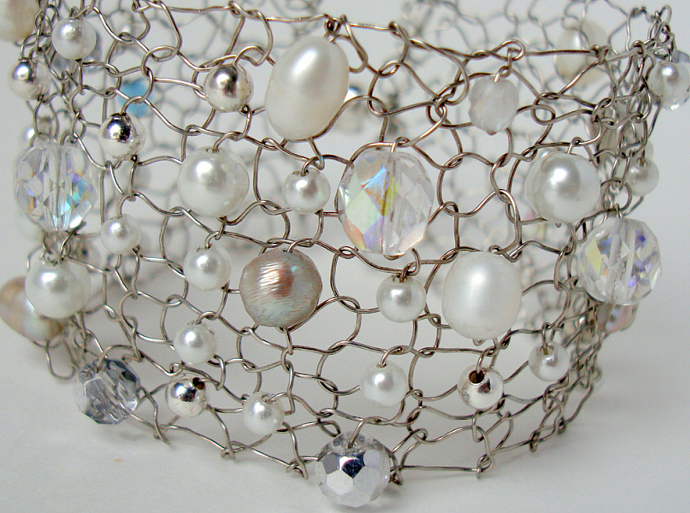 Something New Something Blue Wire and Pearls