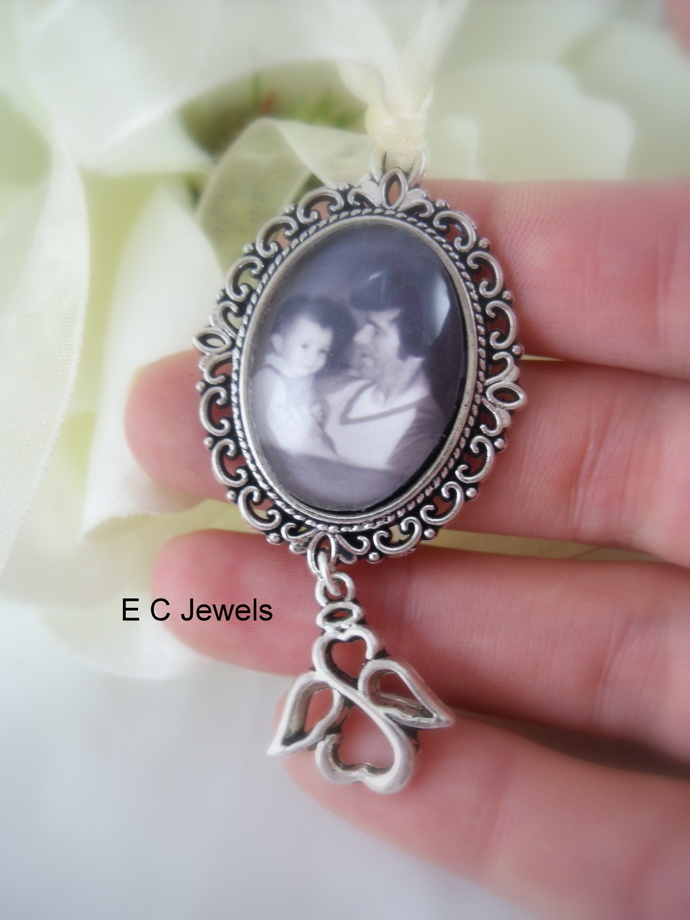 Angel Custom Photo Bouquet Charm