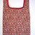 Strawberry Print Reusable Shopping Tote Bag, Market Bag