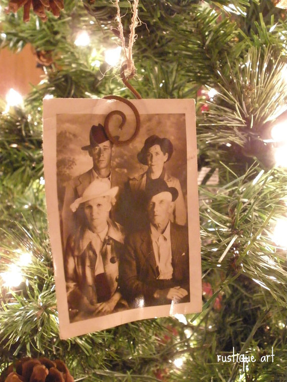Rustic Photo/Gift Tag/Ornament Clips Set of 12