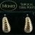 Monet Earrings, Pierced, Vintage 1980s