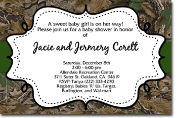 Camouflage Baby Shower Invitations By Uprintinvitations On Zibbet