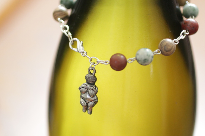 Goddess bracelet earth mother with jasper and agate