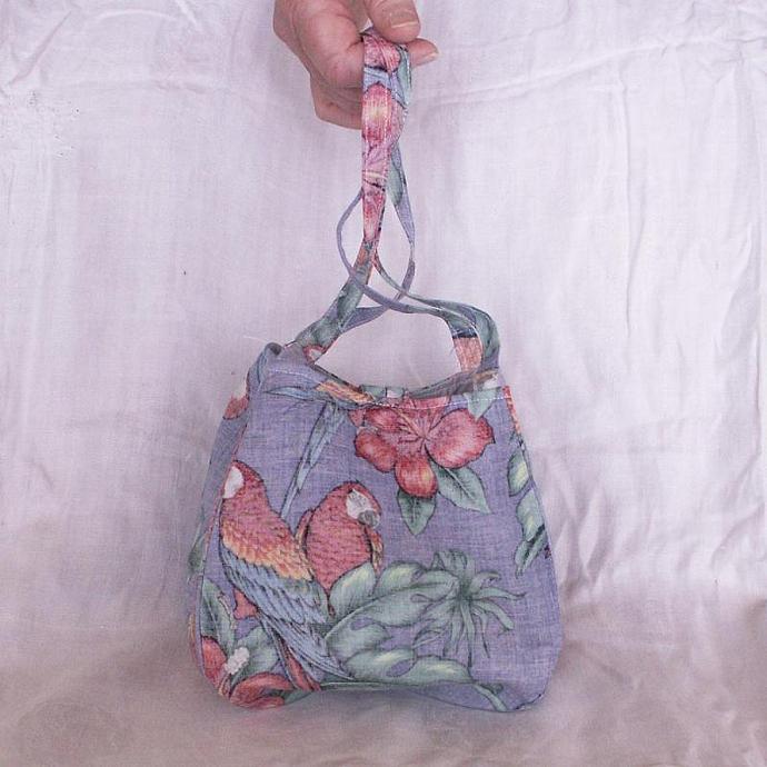 Bento Purse / Lunch Bag - Parrot / Tropical Print