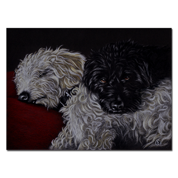 "20x24"" COMMISSION PET Custom PORTRAIT Sandrine Curtiss Original Art animal"