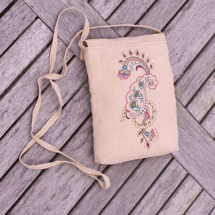 Small and Handy Embroidered Purse