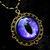 Steampunk Gothic UV Reactive GLOW - Pendant - Dragon Evil Eye - Bronze Violet
