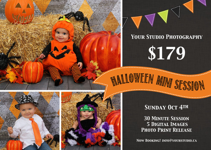 Halloween Mini Session, Mini Session Template, Halloween Flyer, Halloween Mini
