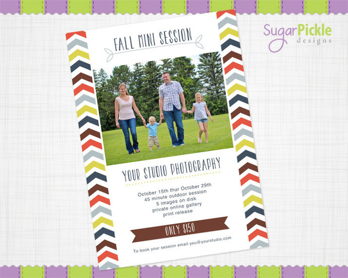 Mini Session, Fall Mini Session, Fall Template, Fall Flyer, Mini Session