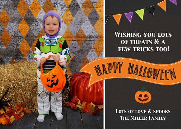 Halloween Card Template, Trick or Treating Card, Mini Session Card Template,
