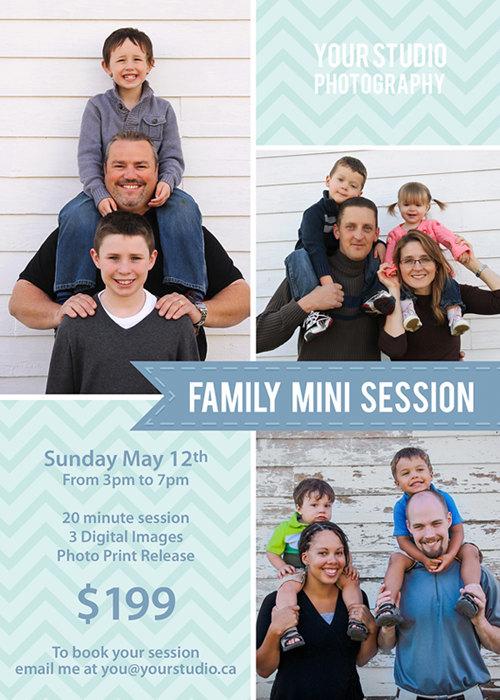 Spring Mini Session, Family Mini Session Template, Family Flyer, Mini Session