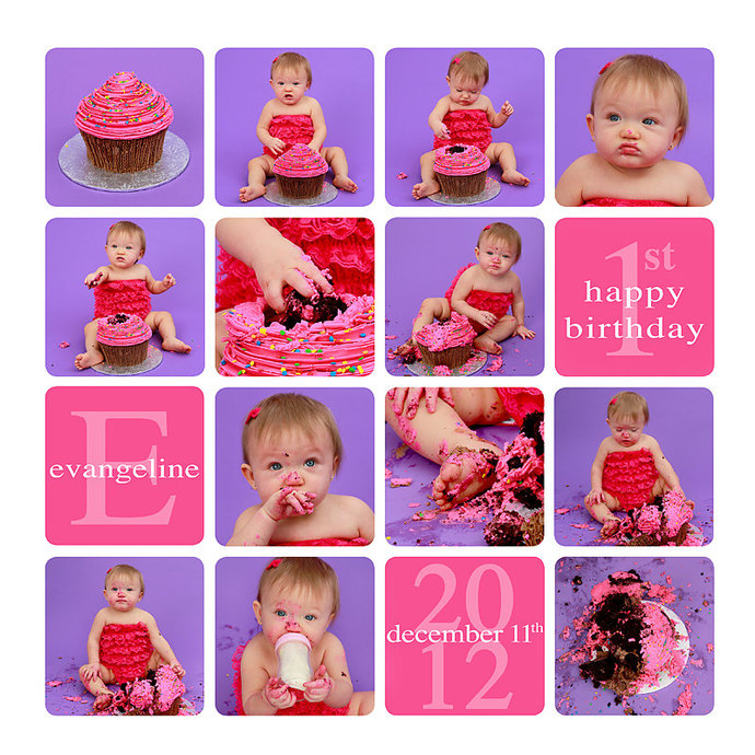 Cake Smash template, Story board template, Cake Smash Storyboard, 12x12, 20x20,
