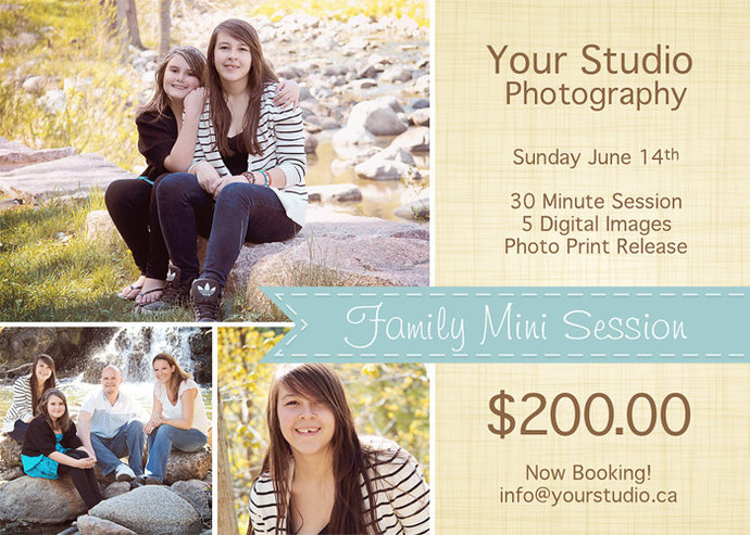 Spring Mini Session, Family Mini Session Template, Family Flyer, Spring Mini