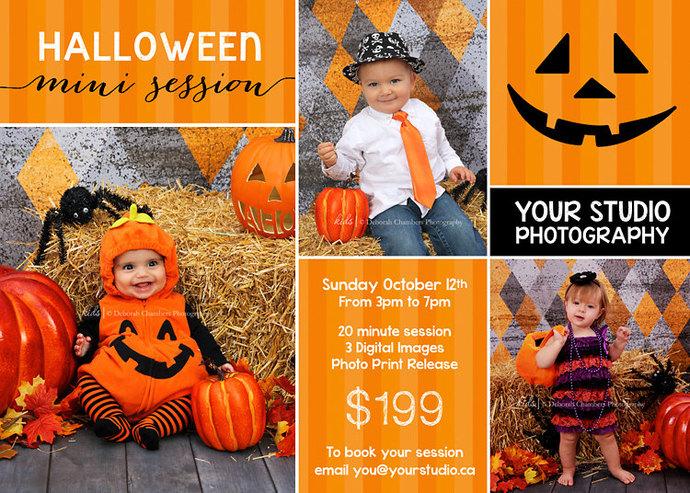 Halloween Mini Session, Mini Session Template, Halloween Flyer, Mini Session,