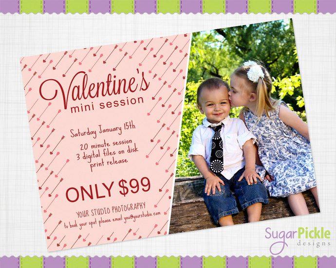 Valentine Mini Session Template, Valentine Mini Session, Valentine Template,