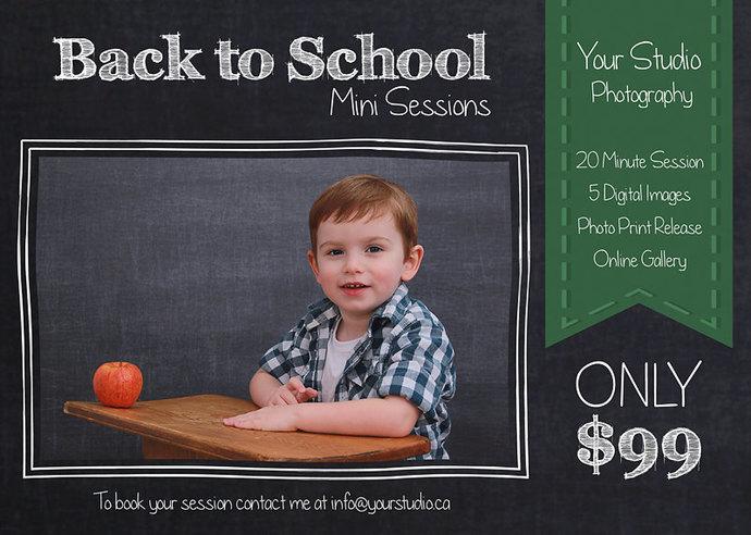 Mini Session, Back to School Mini Session Back to school Template, School Flyer,