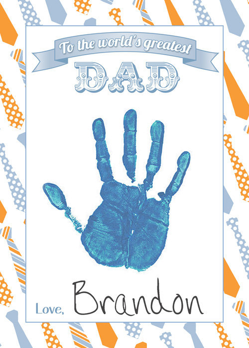 Father's Day Printable, Father's Day Card, Father's Day Gift, 5x7 Flat Card,