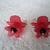 Red Flower Earrings, gothic rockabilly pin up jewelry victorian earrings art