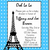 Eiffel Tower Paris Baby Shower Invitations ANY COLOR (download jpg NOW)