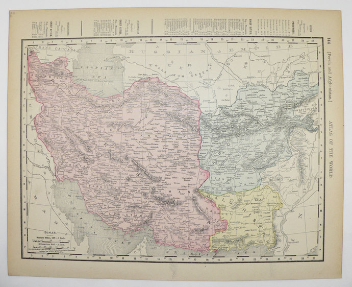Antique 1900 Map of Persia Iran Old Maps and Prints
