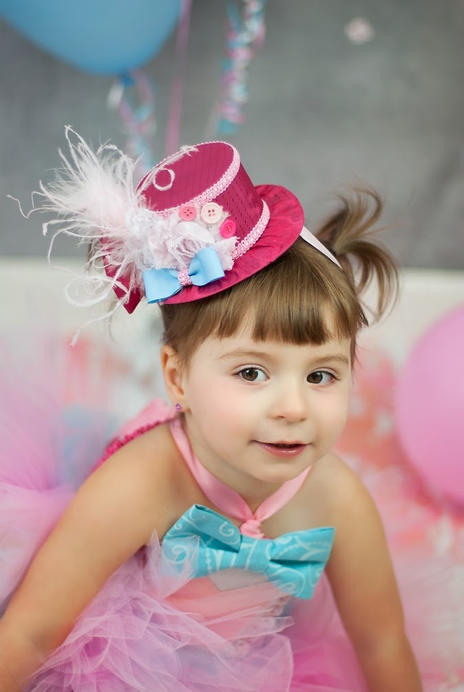 4669ae36f06 Hot Pink Circus style Mini Top Hat - Baby Hat - Party Hat - FIrst Birthday