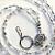 Silver Beaded Lanyard, Id Badge Holder