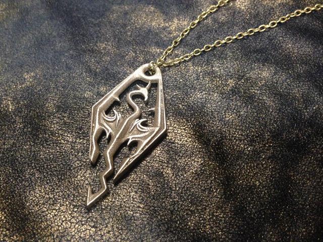 Dragonborn Skyrim Pendant of the Imperial Legion