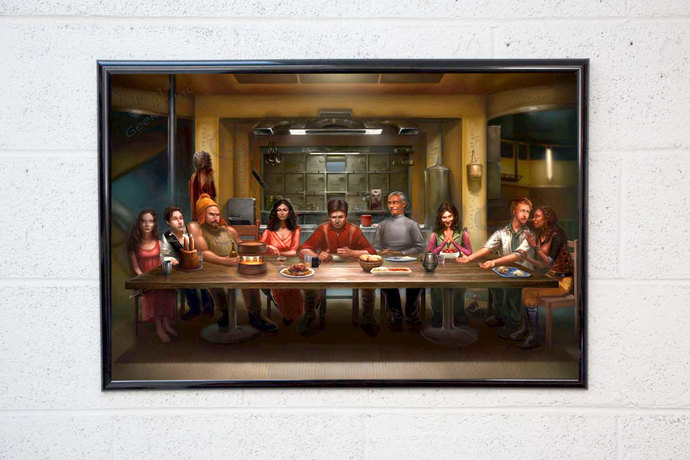 Firefly Serenity Crew Fan Art Poster Print - Malcolm Reynolds Firefly Last