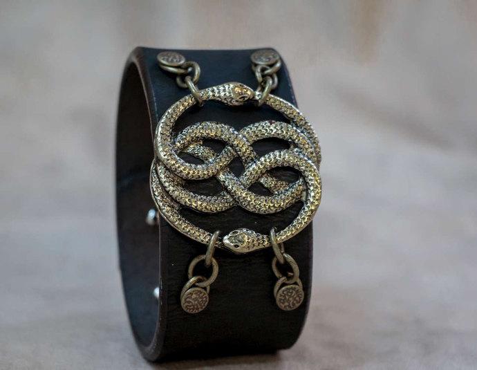 Neverending Story Auryn Leather Cuff Bracelet