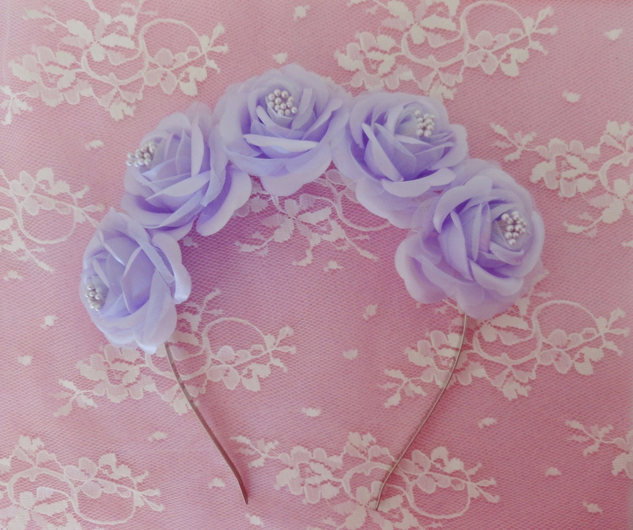 Lily flower crown pastel goth purple by voxpopulijewelry on zibbet izmirmasajfo