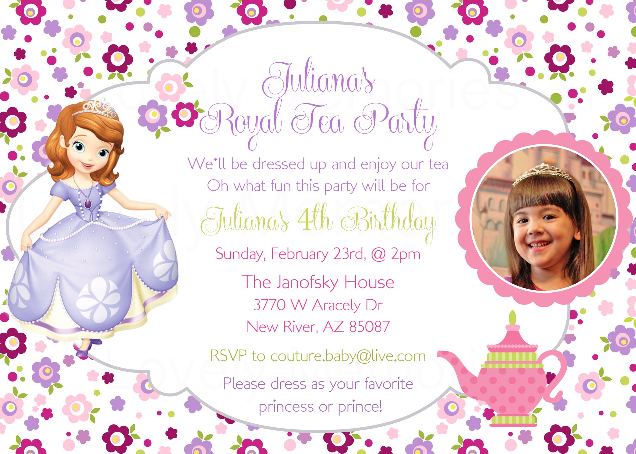 Sofia the first - Princess Birthday tea by thelovelymemories on Zibbet