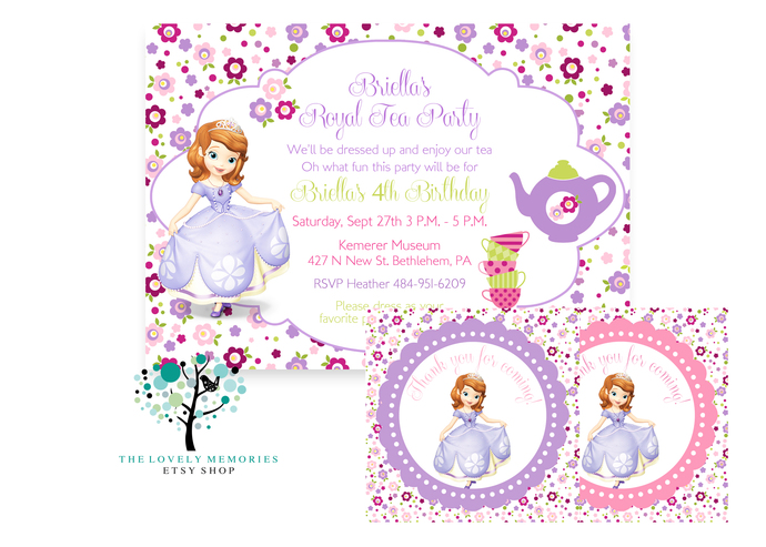 Sofia The First Princess Birthday Tea By Thelovelymemories On Zibbet