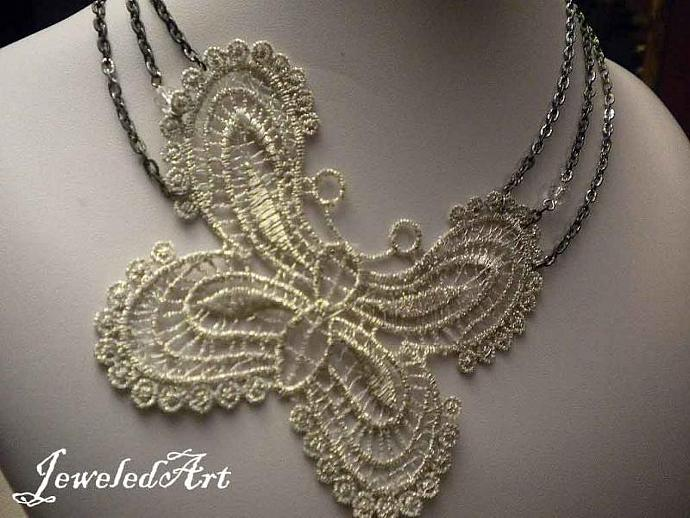 Butterfly Lace Necklace