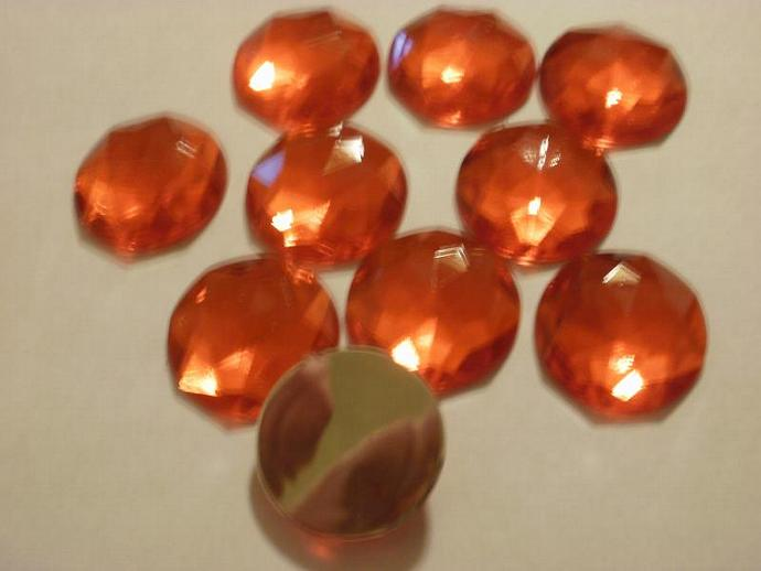 Red 25mm Faceted Acrylic Gems (Z124)