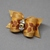 Autumn Leaf Bow with Golden Beads and Swarovski Crystal Rounds